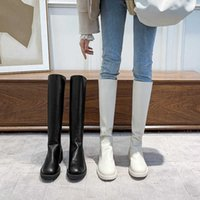 Women's Over-the-knee Boots Fall Medium Heel Thick Female Shoes Gothic Ladies Winter High