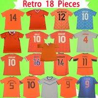 Camisa de futebol retro da Holanda 1974 1986 1988 1990 1991 1995 1997 1998 2000 2002 2010 2012 2014 DE JONG Camisa de futebol da Holanda Vintage GULLIT VAN BASTEN BERGKAMP