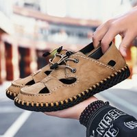 Olomm verão homens sandálias luz respirável praia sapatos originais zapatos de hombre adulto de alta qualidade homens sapatos casuais sapatos lisos wedge k0wq #
