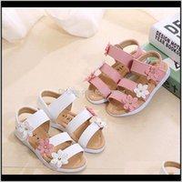 Schuhe baby, mutterschaft tropfenlieferung 2021 skoex mädchen sommer sandalen kindermassive pu-leder ballerina slip-on kleine mädchen / große kinder flach