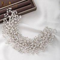 Hair Clips & Barrettes A107 European Rhinestone Wedding Headband Bridal Headwear Wholesale Accessories Women Tiaras Bridesmaid Jewelry