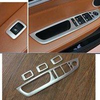 BMW X6 E71 2008 2009 - 2014 Çelik Kapı Kolçağı Pencere Anahtarı Kapak Trim 4 adet