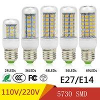 SMD5730 E27 GU10 B22 E14 G9 LED lamp 7W 12W 15W 18W 20W 220V 110V 360 angle SMD LED Bulb Led Corn light