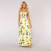 Casual Bayan Elbise Elbiseler Çiçek Baskılı Bayan Fırfır Elbise Ayakkabı Kadın Yaz Elbise Halter Straplez Bayan Clothingtraf-Robe Sier Sundre