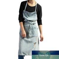 Il materiale denim del cotone spesso del grembiule è adatto per la coffee shop di fascia alta casa di cottura e cucina stile nordico