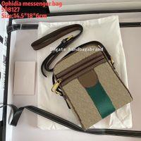 Itália Luxo Designer Messenger Bag Classic Ophidia Sacos de ombro Luxurys Designers Business Bags tamanho 14.5-18-6cm