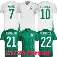 2020 2021 Algerie Maillot de 2 Star Home Branco Mahrez Bounce Joutazla Soccer Jersay 20 21 Argélia Homens Kits Kits Uniformes Futebol