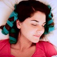 Rulli per capelli Sommario Styler Kit Lunghi Bigodini di cotone Strumenti di styling fai da te Blu Color Magic Style Style Charming Style