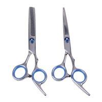6 calowe cięcie przerzedzania narzędzia do stylizacji włosów nożyczki ze stali nierdzewnej Salon fryzjerski nożyce do włosów regularne płaskie ostrza zębów