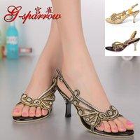 G-Sparrow 2021 الصيف مثير عالية الكعب الصنادل الزفاف الماس أنيقة المرأة الذهب زقزقة اصبع القدم الأحذية الأرجواني جودة سوداء
