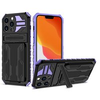 Armor Invisible Bracket Phone Cases For iPhone 13 Pro Max 12 11 7 8 Plus Durable Defender Shockproof Rubber Protective Mobile Back Cover