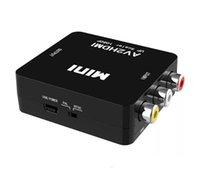 AV2HDMI 1080 P HDTV Video Adaptörü Mini Konnektörler Dönüştürücü CVBS + L / R RCA için HDMI için HDMI için Perakende Ambalajlı 360 PS3 PC360