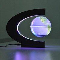 Yenilik C Şekli Gece Işıkları Dönebilen LED Dünya Haritası Yüzer Küre Manyetik Levitasyon Işık Antigravity Sihirli Kapalı Aydınlatma Doğum Günü Home Dec Novel Lambaları