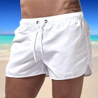 Men's Shorts 2021 Summer Swimwear Solid Color Board-Shorts Swimsuits Running Sports Casual Breathable Homme Short Pants