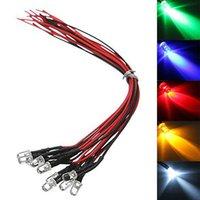 Lichte kralen 10 stks met 20 cm draad LED-verlichting DIY Verlichting Accessoires DC5V-12V 5mm Bulb Pre Wired Emitting Diodes