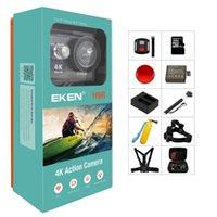 الرياضة عمل كاميرات الفيديو الأصلية eken H9 / H9R كاميرا 4K Ultra HD 1080PS 1080FPS مصغرة خوذة كام wifi go للماء برو الرياضة البطل 7 يي