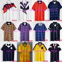78 82 84 86 89 91 93 94 95 96 98 98 Ecosse Rétro Mulgrew Mulgrew Soccer Matériel de la Coupe du Monde Maison Bleu Kits 1996 1998 Mcstay Classic Vintage Shirt de football écossais