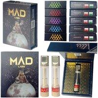 Ad Mad Labs Topizer Tape Cartridges 10 штаммов упаковка 0.8 мл керамическая катушка DAB воск толстые тележки 510 резьбовые распылители пустые вершины ручка 2,0 мм масляное отверстие E Cigarettes оптом
