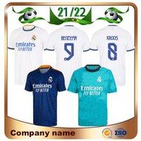 21/22 Real Madrid Hazard Soccer Jersey 2021 Home Benzema Militao Modric Marcelo de Fútbol Sergio Ramos Asensio Isco Lucas V Camisa de Futebol Uniformes