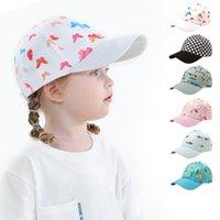 Baby Cap Cartoon Snapback Ball Caps Summer Hip Hop Sun Visor Outdoor Ponytail Butterfly Animal Print Boy Girl Baseball Hat