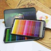 أقلام الرصاص اللوحة المواد الطلاء فرشاة اللون الرصاص البدلة النفط القلم 72 لون قلم رصاص مربع