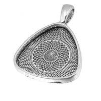 Accessori per gioielli FAI DA TE 25mm Triangolo Light Light Bease Collana pendente