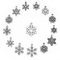 Fabrika Outlet Partisi Dekorasyon 70 Kar Tibet Gümüş Bilezik Aksesuarları Alaşım Kolye Noel Serisi Antik Silve WY7Q