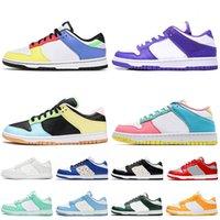 Nike SB Dunk Low Travis Scott Lüks Tıknaz Dunky Erkek Bayan Koşu Ayakkabıları SB Dunk Beyaz Yeşil Sarı Sneakers Boyutu 36-45 Kapalı