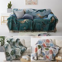 Chair Covers Geometric Knitted Sofa Throw Blanket Boho Knit Couch Cover Towel Carpet Soft Plaid Bed Tapestry Bedspread