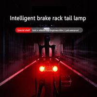 Bike Lights LED Rack Taillight USB Charging Bicycle Luggage Reflective Smart Braking Night Ridding Safety Cycling Equipment