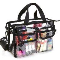 PVC transparent imperméable grand sac cosmétique femme femme sac à main beauté bureau organisateur plongeur de toilette pochette sac de maquillage clair