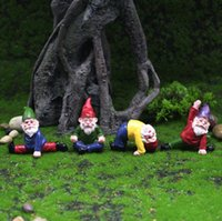 Fairy Garden Acessórios Collectible Figurines Miniatura Gnomes Gnomes Figurines Ornaments Mini Gnome-bêbado FWB8422