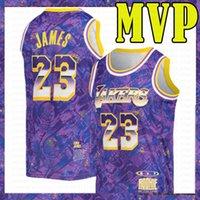 Impressão dos homens 2021 MVP roxo Select Série Allen 3 Iverson LeBron 23 James Basketball Jersey Philadelphia76er.Los AngelesLakers.Kobe.24.Bryant