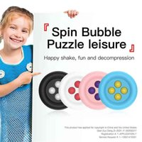 Children's Pioneer Infinite Circle High-speed Bead Fidget Poo-it Finger Fun Puzzle Decompression Toy Push Pop Bubbles Anti Stress Relief Board G78C356