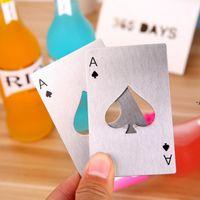 Poker Playing Carta Bottle Opener Apritevi in acciaio inox Apri di birra Strumenti bar Carta di credito Opener Regali Cucina Utensili NHB11118