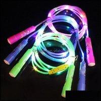 Atlama Malzemeleri Spor OutdoorsJump Halatlar LED Parlayan Halat Aydınlık Jum Çocuklar Excercise Evde Konaklama Fitness Atla Egzersiz Ekipmanları Unisex D