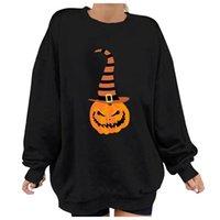 Women's Hoodies & Sweatshirts In Stock Halloween Print Long-sleeved Sweatshirt Casual Blouse Pullover Autumn Winter Womens Crewneck Long Sle