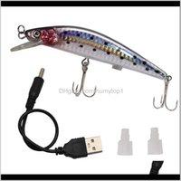 Yemler Vibrastrike Flaş Cazibesi Swimbait Şarj Edilebilir USB Lures Teğmen Minnow Elektronik Balıkçılık Bait Ye16 53 x2 F7A8D JVHFW