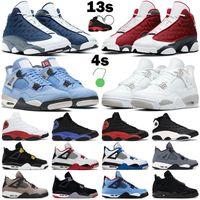 2021 basketbol ayakkabıları erkek kadın jumpman 13s Kırmızı Flint Siyah Hiper Kraliyet Denizyıldızı 4s Üniversite Mavi Beyaz Oreo Motorsporları Yelken erkek spor ayakkabı