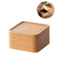 Wooden Jewelry Storage Boxes Simple Beech Wood Watch Box DIY Christmas Gift Packaging