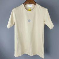 여름 인쇄 로고 편지 면화 남성용 티셔츠 느슨한 및 간단한 크루 넥 짧은 소매 연인 레저 시간 폴로 셔츠