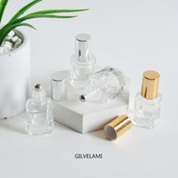 4ml Mini Roller Bottles Empty Silver Gold Roll On Tubes Essential Lips Oil Rolling Ball DIY Clear Glass Bottle