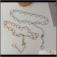 Belly Chains Body Jewelry Drop entrega 2021 Cintura Cadeia Decorativa Decorativa Com Simple Metal Love Connection Fashion Pequeno Cinto Saia Oh