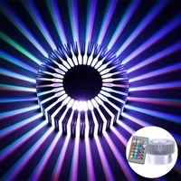 Lámparas de pared Lámpara Lámpara Dormitorio Luz de cama 3W Aluminio Hightrawer Chip RGB Colorido Girasol para InS