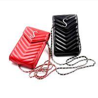 Bolsas de teléfono de moda para iPhone 12 Pro Max Casas de cuero de alta calidad Casas de bolso de bolso de bolsillo pequeño bolsillo para la mayoría de los teléfonos