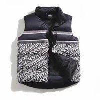 Мужские жилеты в жилье жилет зимняя куртка Письмо печатать Parkas пальто с капюшоном верхняя одежда для женщин ветровка теплая толстая одежда