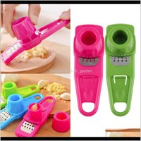Fruit Vegetable Tools Press Chopper Cutter Home Plastic Stainless Steel Grinding Kitchen Gadgets Garlic Mashed Ziz2G Atdf1