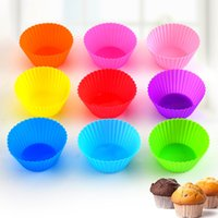 Silicone Muffin Cake Cupcake Cup Mould Case Bakeware Maker Mold Tray Baking Jumbo