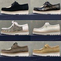 Alta Qualidade Homens Shoes formal de couro genuíno plataforma de lona dos homens masculino casual festa casual mocassins vestido sapatos tamanho 39-45