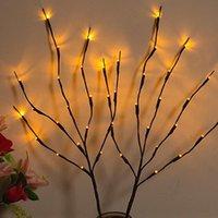 Cordas LED Willow Branch Lâmpada de Natal Vaso Floral Luzes 20 Bulbos Casa Party Jardim Decor Desktop Flor Decoração TDH
